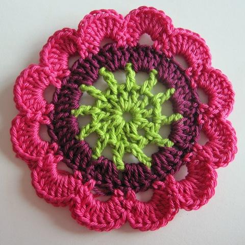 вязание крючком мастер класс цветочный мотив