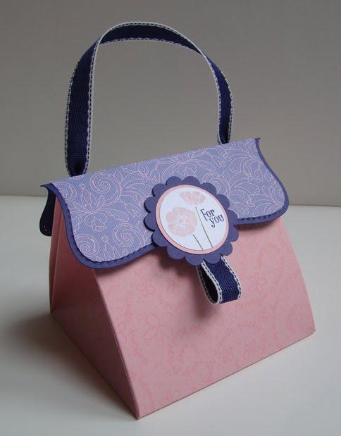 как сделать бумажную сумку для подарка