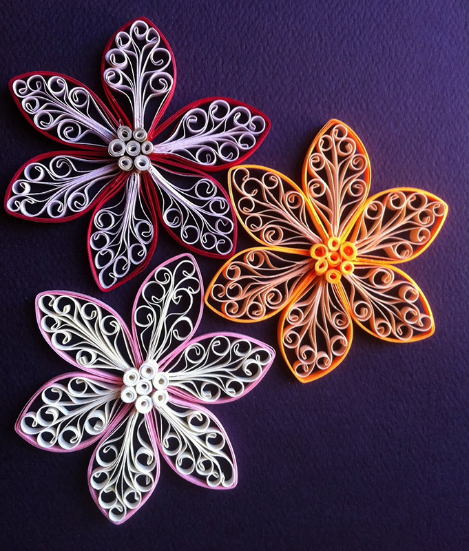 как сделать цветок с завитками квилинг