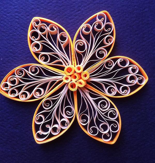 ажурный цветок квилинг мастер класс