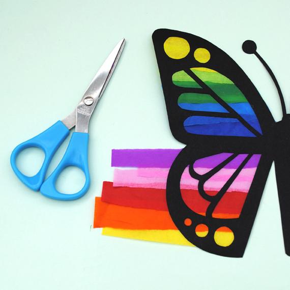 бабочка из бумаги для декора