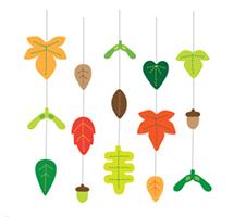 листья из фетра выкройка шаблон