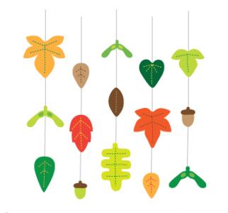 шаблоны листиков из фетра