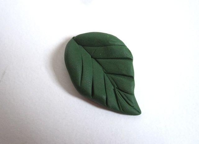 листик полимерная глина