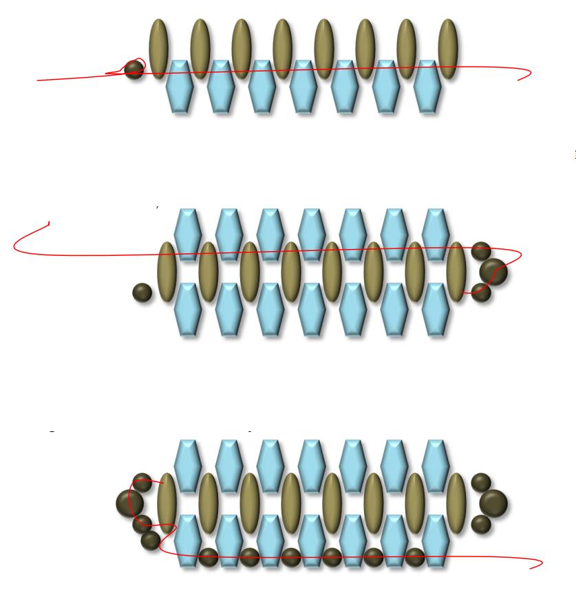 схема плетения браслета superduo супердуо бусины