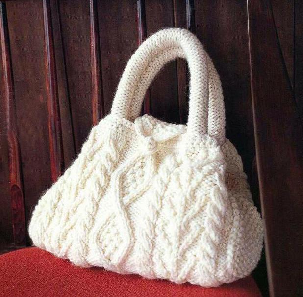 сумка вязание спицами схема
