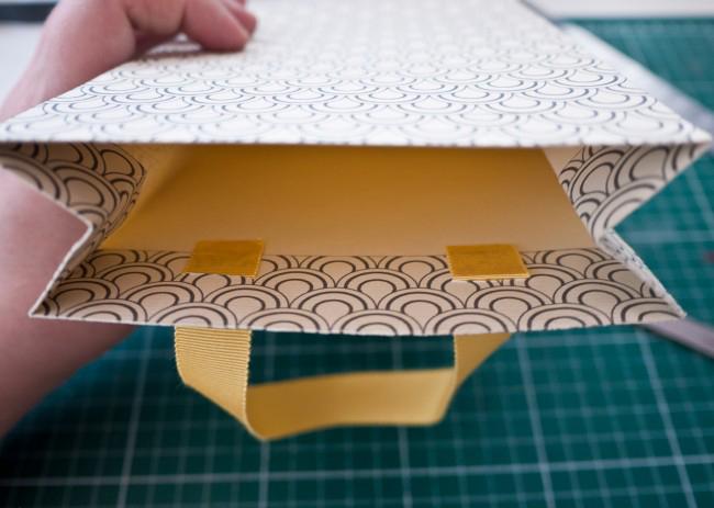 Пакет с ручками из бумаги своими руками.