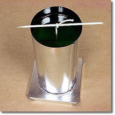 фиксация фитиоля при изготовлении свечи