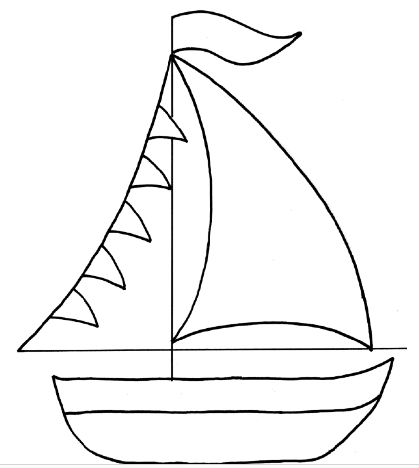 Макет кораблика для открытки 62