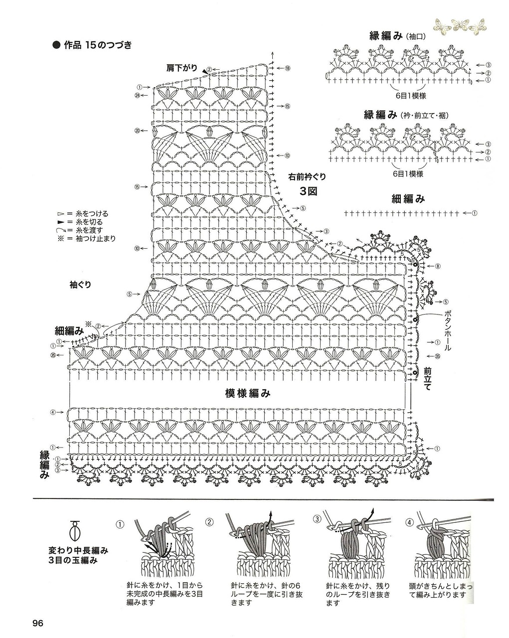Японское вязание крючком схемы с описанием