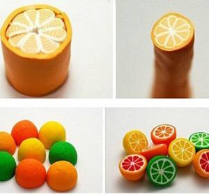 как сделать апельсин лимон из полимерной глины пластики