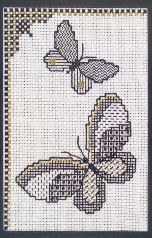 открытка бабочки блекворк схема
