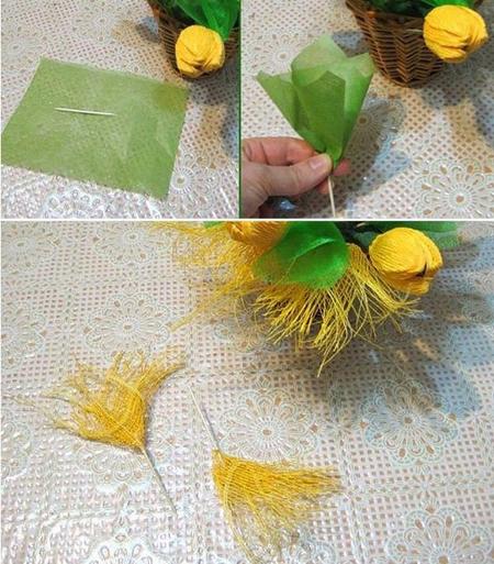 декорирование букета из конфет