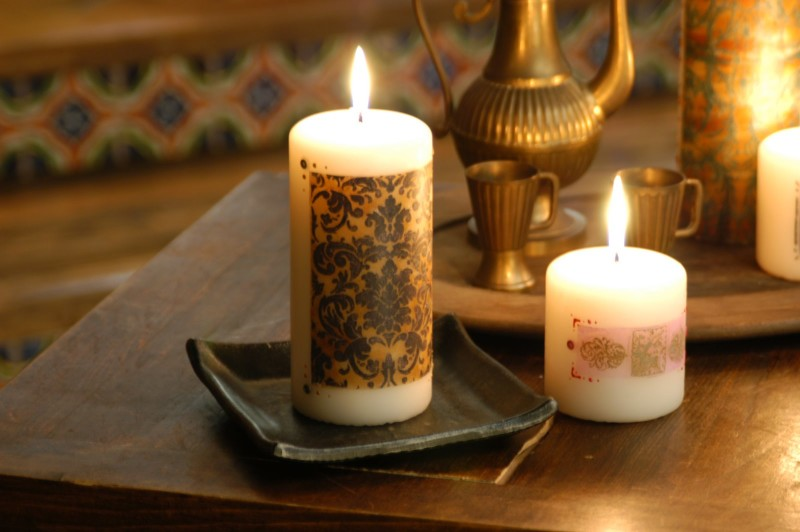 свеча декорирование эмбоссинг мастер класс
