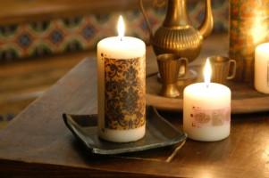 как задекорировать свечу эмбоссинг мастер класс