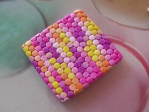 как сделать мозаику из кружочков полимерной пластики