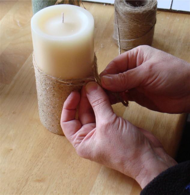 декорирование свечей ручной работы