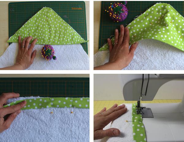 пошив полотенца с капюшоном