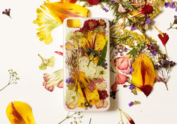 чехол для айфона декор засушенные цветы эпоксидная смола