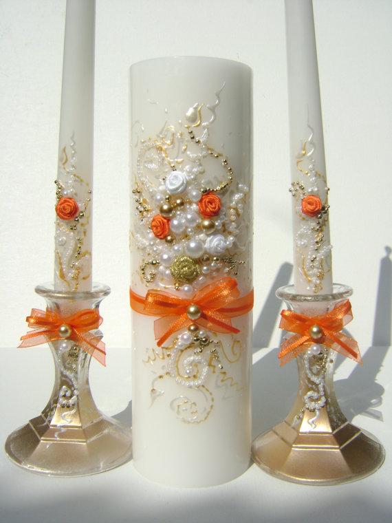 резная свадебная свеча