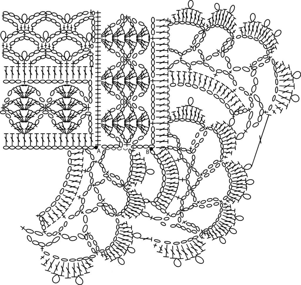 схема вязание крючком ажурная кофточка