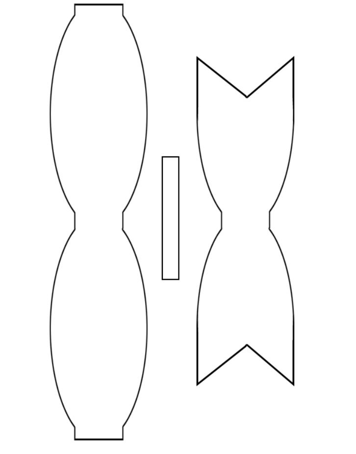 схема выкройка бумажный бант