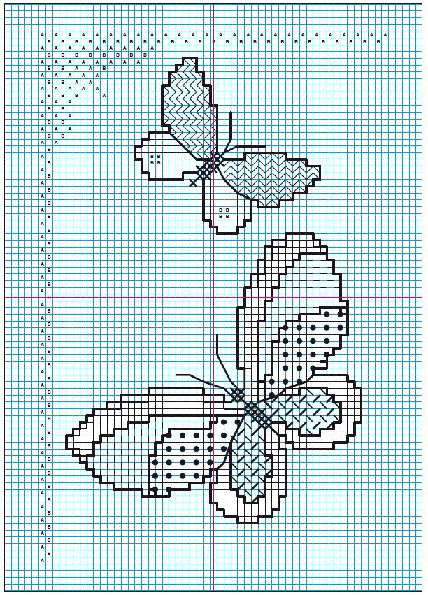схема вышивка блекворк бабочка