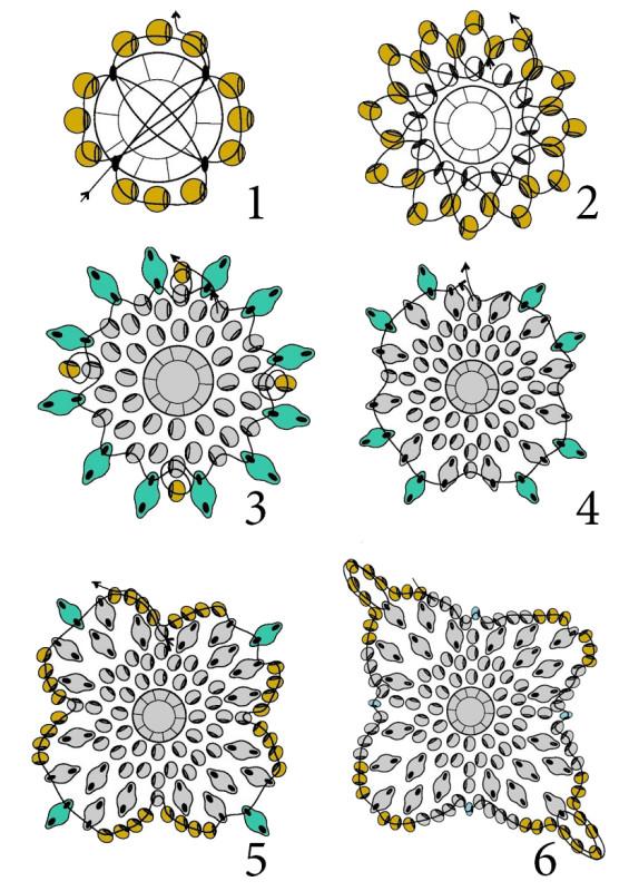 Схема плетения браслета жгут фото 740