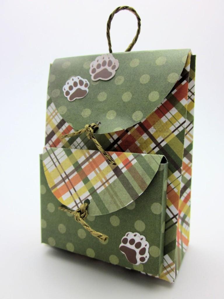 упаковка рюкзак шаблон
