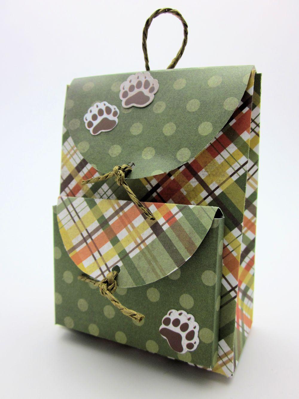 Поделка рюкзак из бумаги