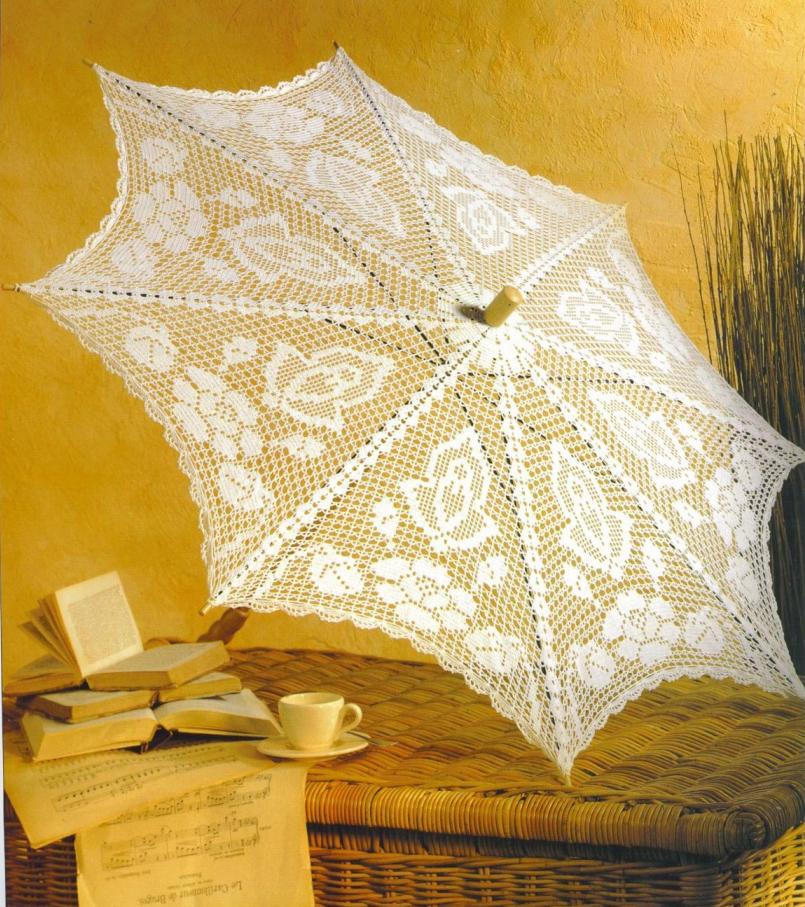 зонтик вязание крючком схема