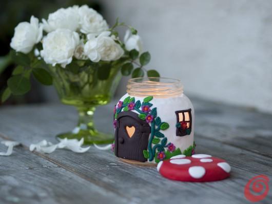 свеча сувенирная домик своими руками