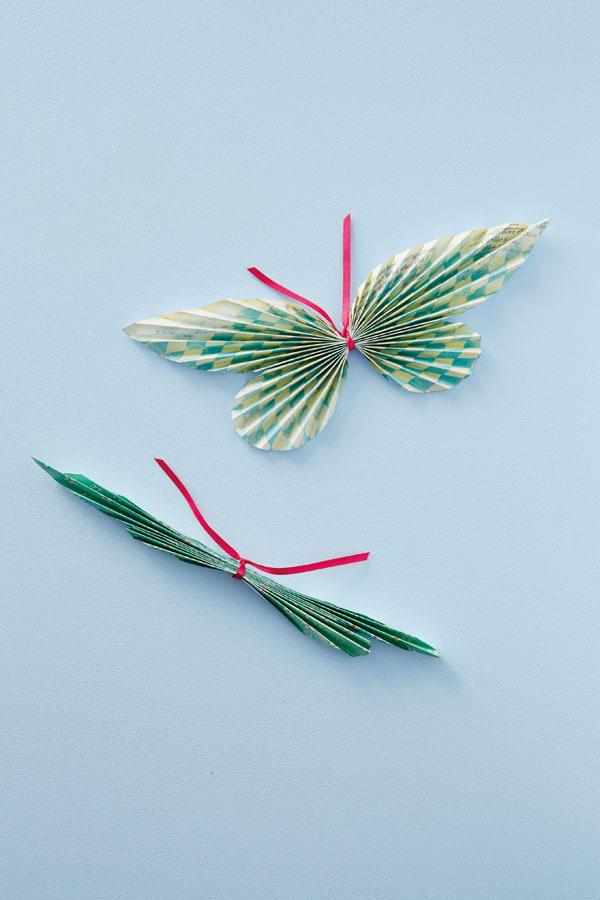как сделать простую бабочку из бумаги