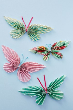 бумажная бабочка мастер класс
