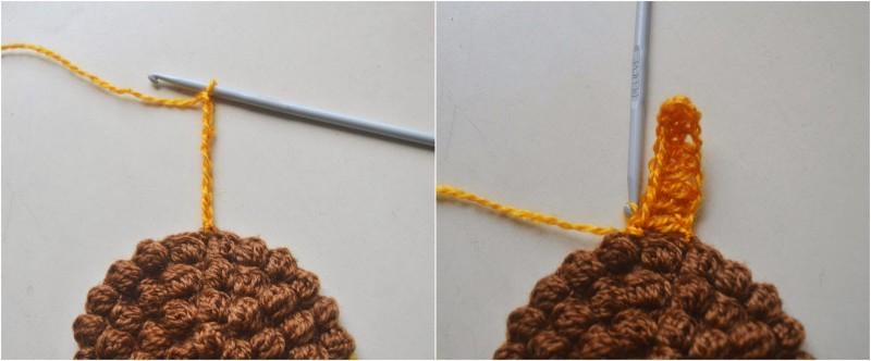 как связать подсолнух крючком