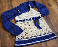 комплект из платья и болеро схема вязания