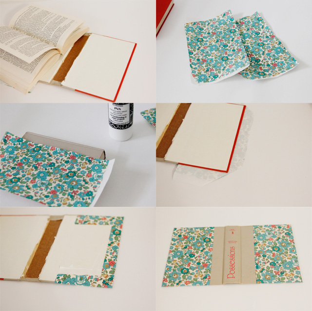 как сшить пенал из обложки от книги