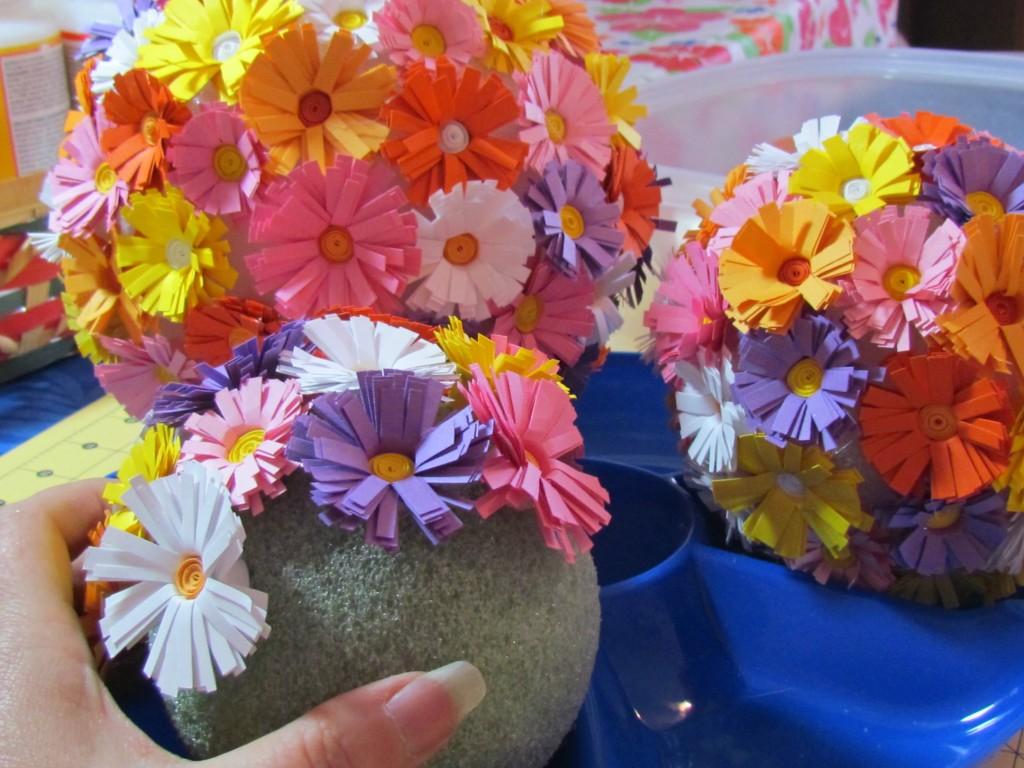 топиарий цветы из бумаги