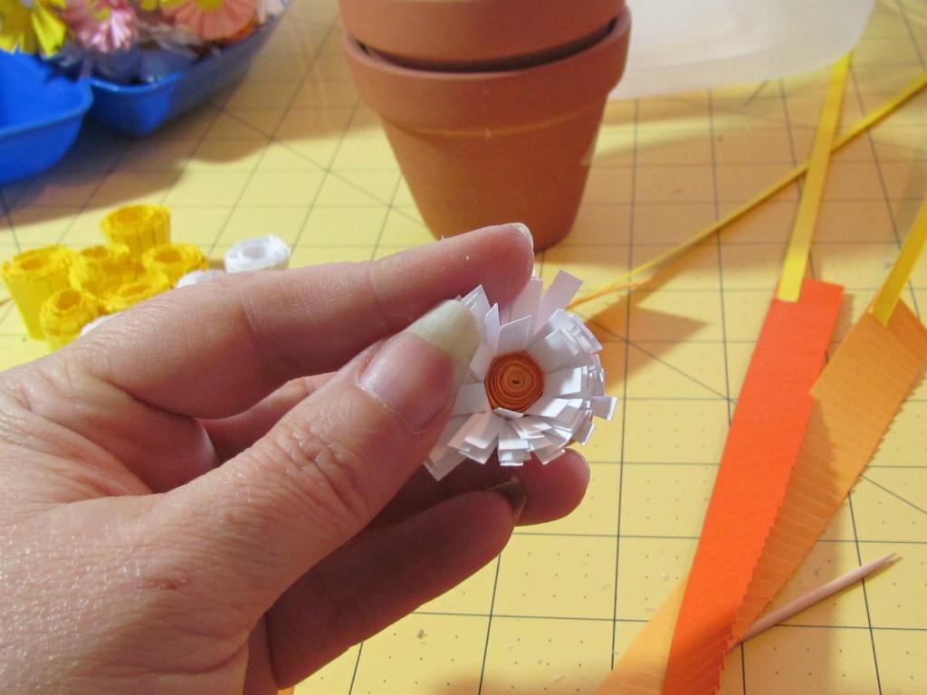 топиарий цветы из бумаги пошагово