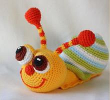 игрушка амигуруми улитка
