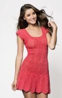 платье крючком схема вязания