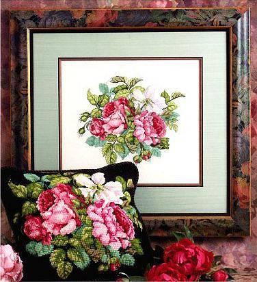 схема вышивки розы