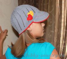 кепка для девочки крючком схема