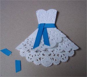 платье из салфетки,