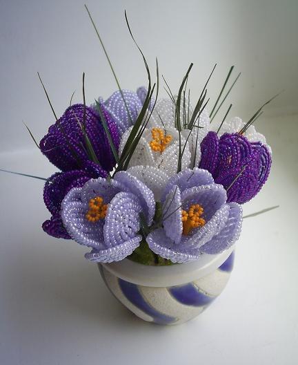 цветок +из бисера схема
