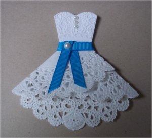 как сделать открытку с платьем