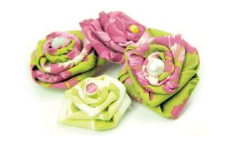 Мастер-класс по изготовлению розы из ткани.