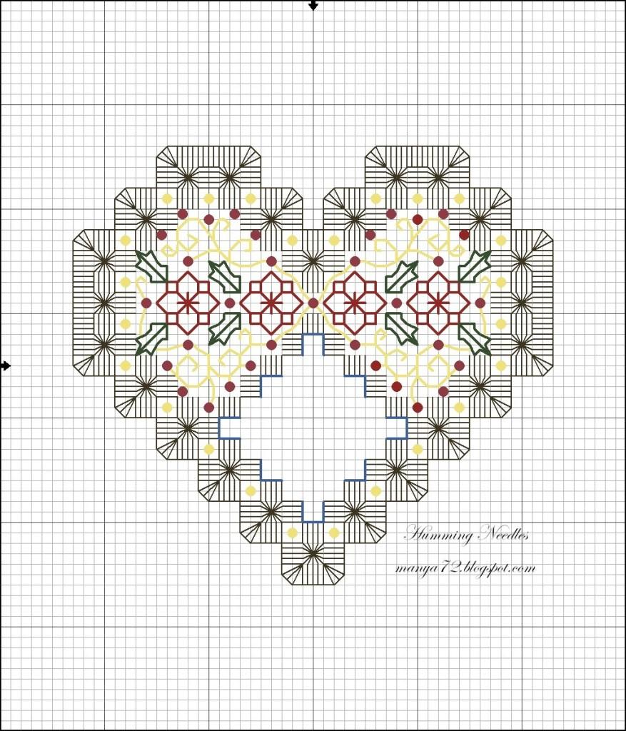схема для вышивки хардангер