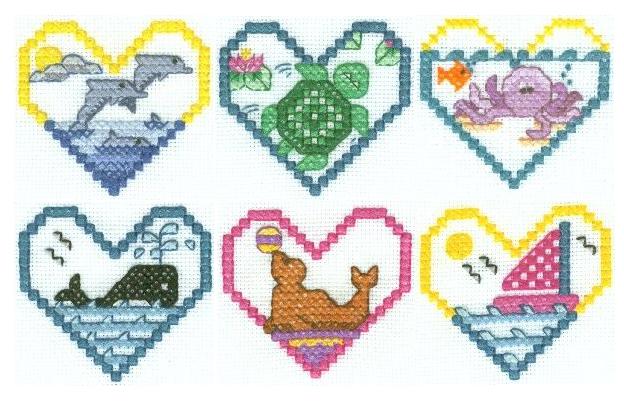 Маленькие Схемы Для Вышивки Крестом Сердечки