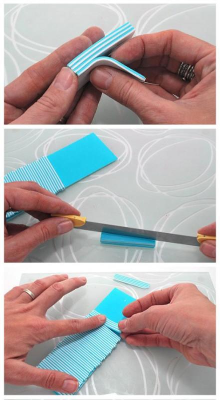 как сделать спиральный рисунок бусин из полимерной глины
